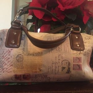 Relic Post Card & Stamps Themed Tote Purse Satchel